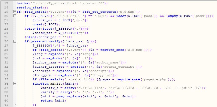 Part of inner code of cms